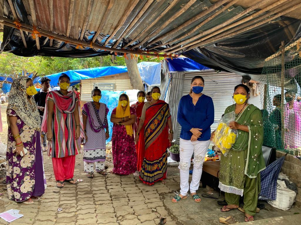 Mask distribution to the underpriveledge