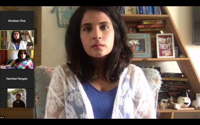 Richa Chada Shoots for sci-fi short film