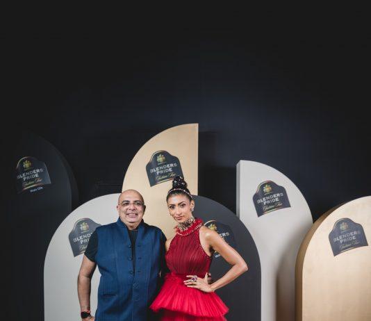Designer Tarun Tahiliani and model Lakshmi Rana at Blenders Pride Fashion Tour X Tarun Tahiliani