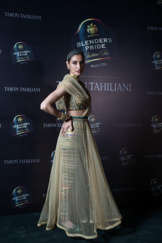 Model walking the ramp at Blenders Pride Fashion Tour X Tarun Tahiliani