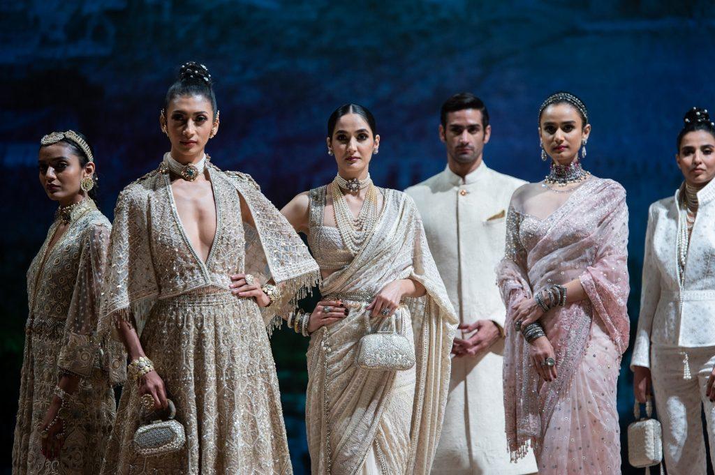Models walking the ramp at Blenders Pride Fashion Tour X Tarun Tahiliani 1