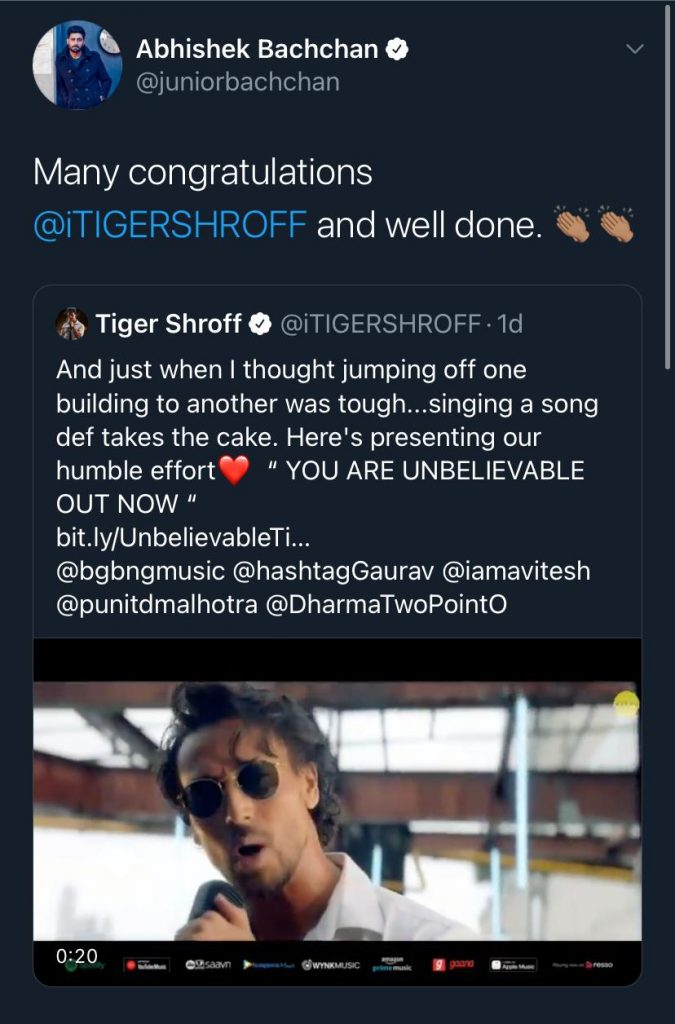 Tiger Shroff Unbelievable
