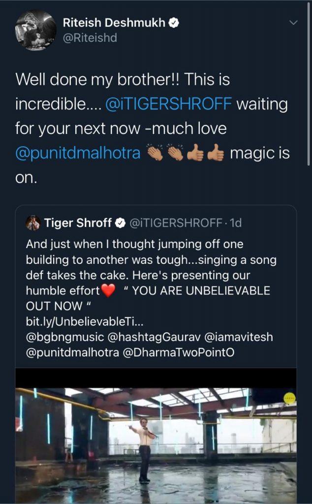 Tiger Shroff Unbelievable
