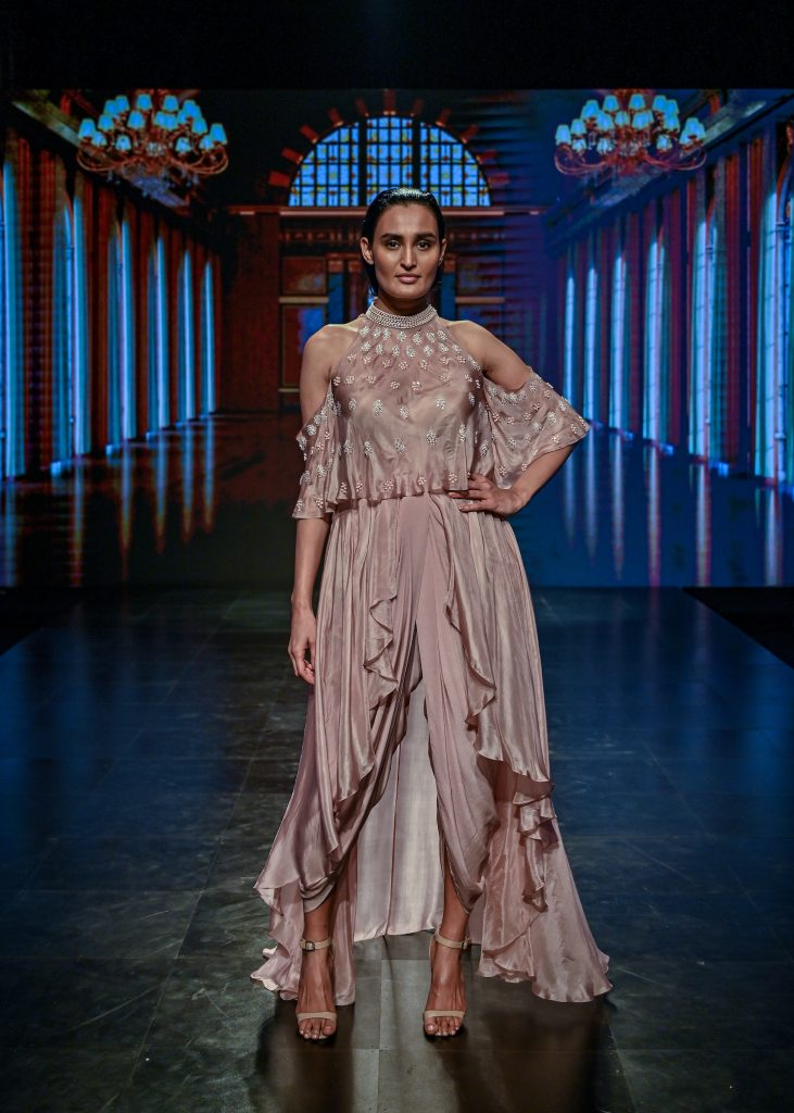 PINK PEACOCK's Collection at The Lakme Fashion Week Winter/Festive 2020 at St. Regis in Mumbai, India on 24th October 2020.  Photo :Vaqaas Mansuri / FS Images / Lakme Fashion Week / IMG Reliance