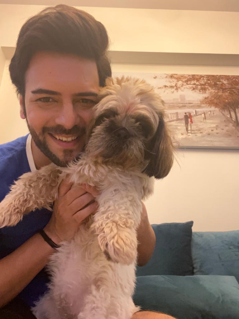 Sanjay Gagnani with pet