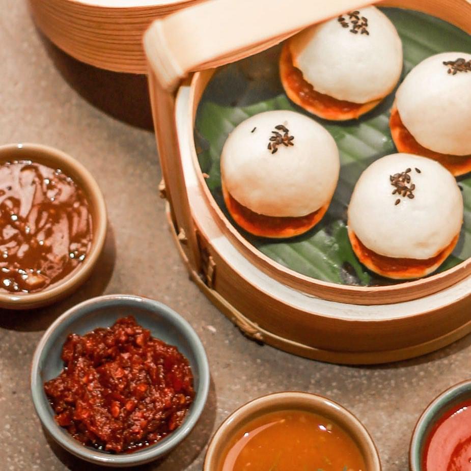 Brown Onion & Roasted chilly Paukse (steamed buns) burma burma