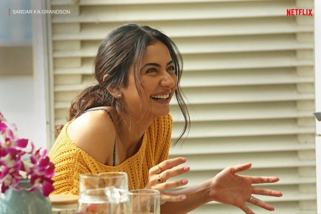 Sardar Ka Grandson -Netflix_ Rakul solo 2