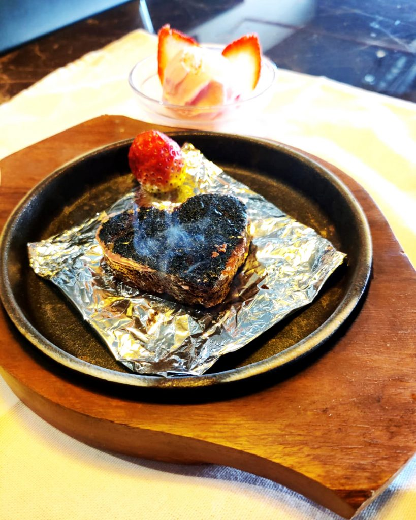 Sizzling Brownie with Strawberry and Ice Cream