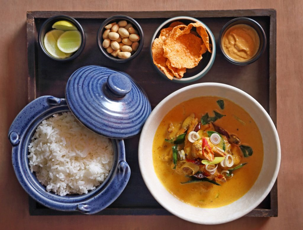 Curry Laksa with sticky Jasmine rice