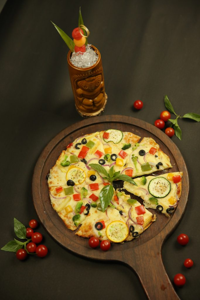 Berry melon sour with medi pizza 3
