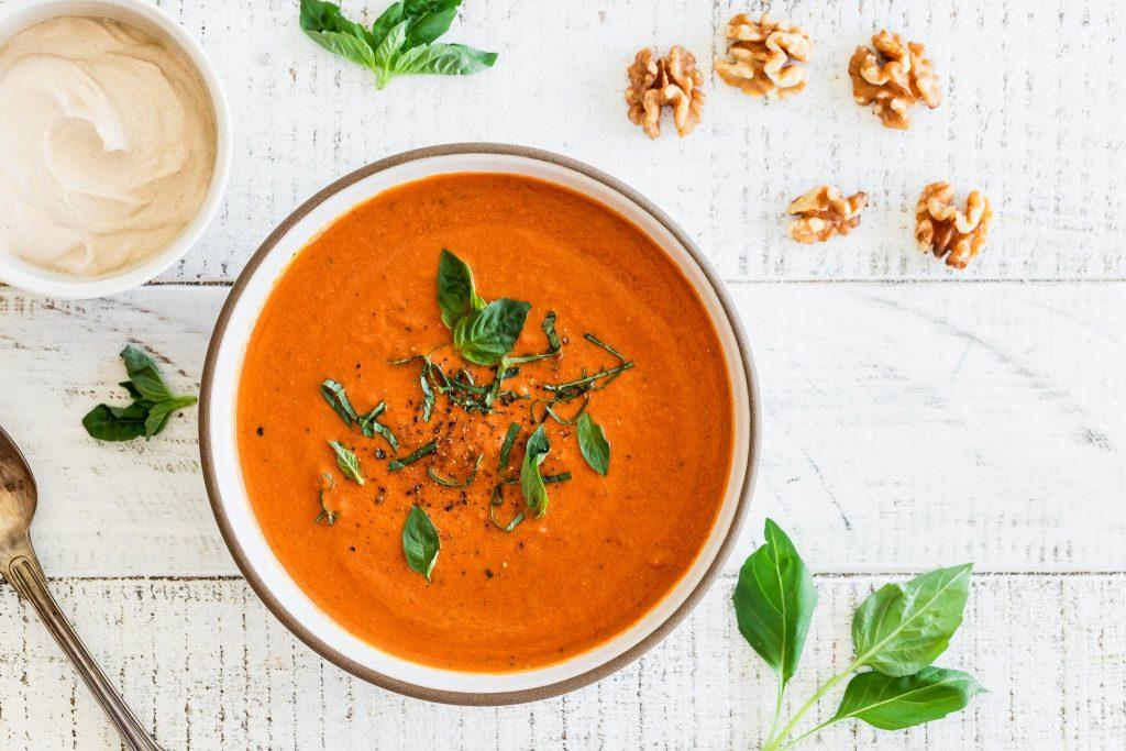 Creamy California Walnut & Tomato Soup